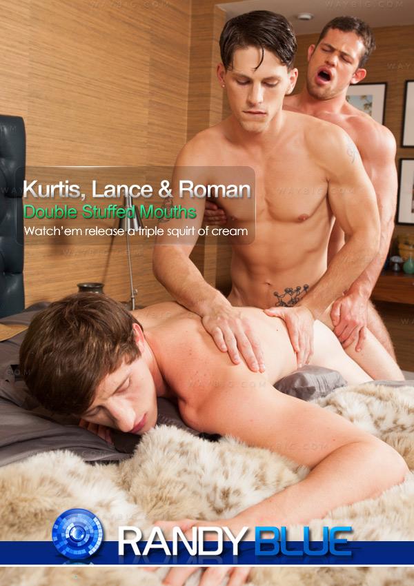 Kurtis Wolfe, Lance Alexander & Roman Todd at RandyBlue
