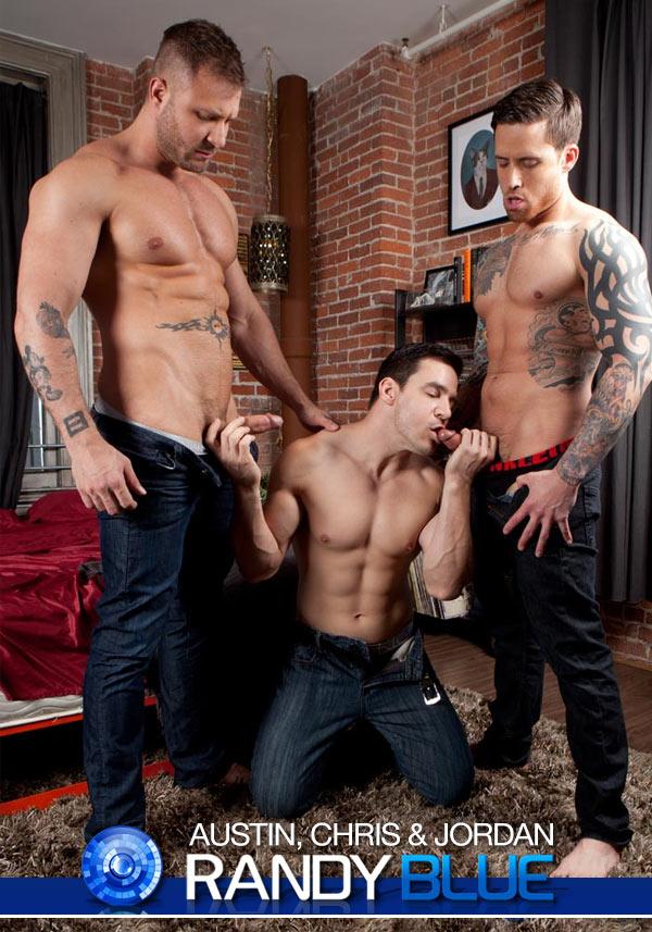 Austin Wolf, Jordan Levine & Chris Rockway at RandyBlue