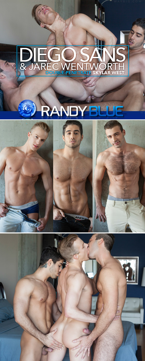 Diego Sans & Jarec Wentworth Double-Penetrate Skylar West at Randy Blue