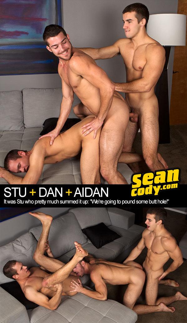 Stu, Dan & Aidan (Bareback) at SeanCody