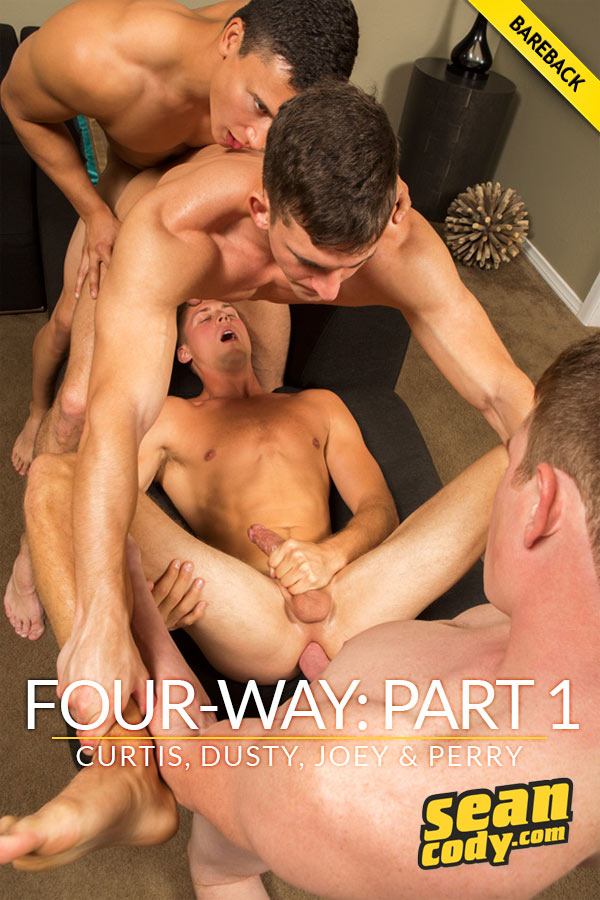 Four-Way: Part 1 (Curtis, Dusty, Joey & Perry) (Bareback) at SeanCody