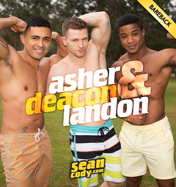Landon, Deacon & Asher (Bareback 3-Way) at SeanCody