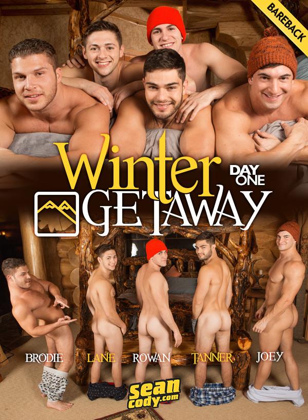 Winter Getaway: Day 1 (Lane, Brodie, Joey, Tanner & Rowan) (Bareback) at SeanCody