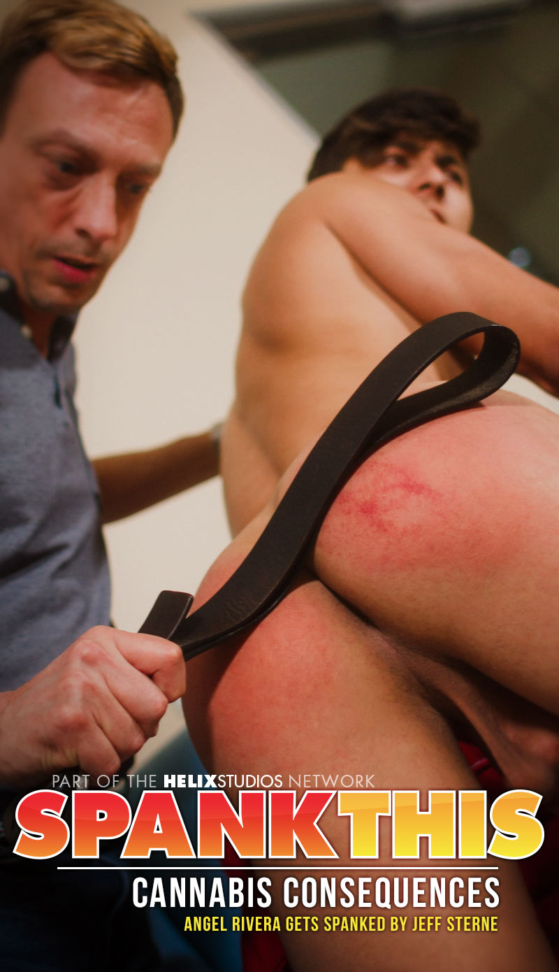 Cannabis Consequences (Angel Rivera Gets Spanked By Jeff Sterne) at SpankThis!
