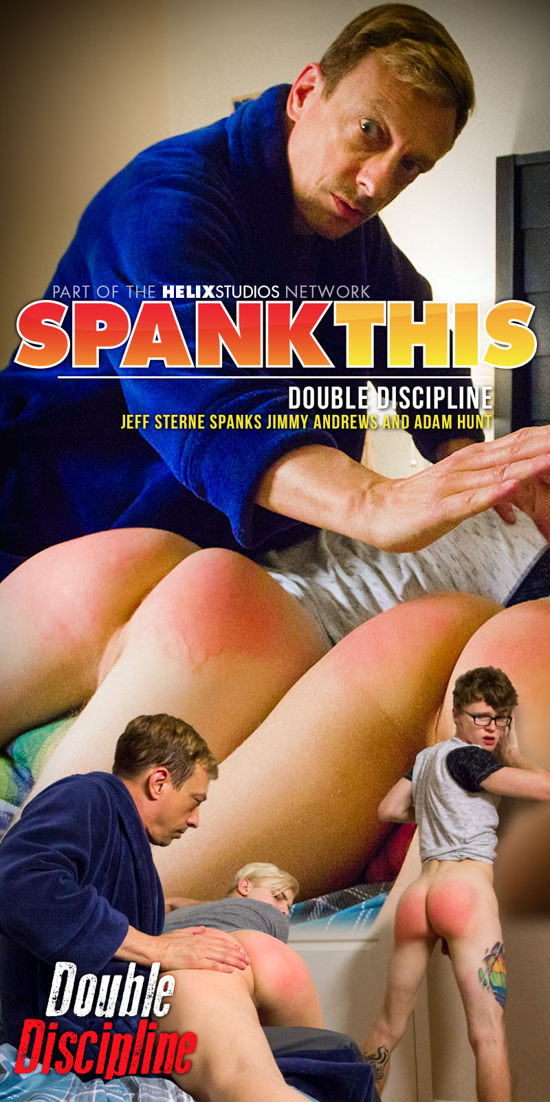 Double Discipline (Jeff Sterne Spanks Jimmy Andrews and Adam Hunt) at SpankThis!