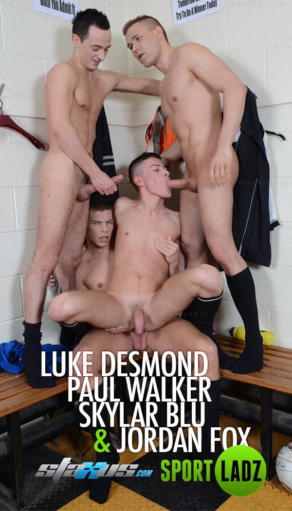 Luke Desmond, Paul Walker,Skylar Blu & Jordan Fox at Staxus