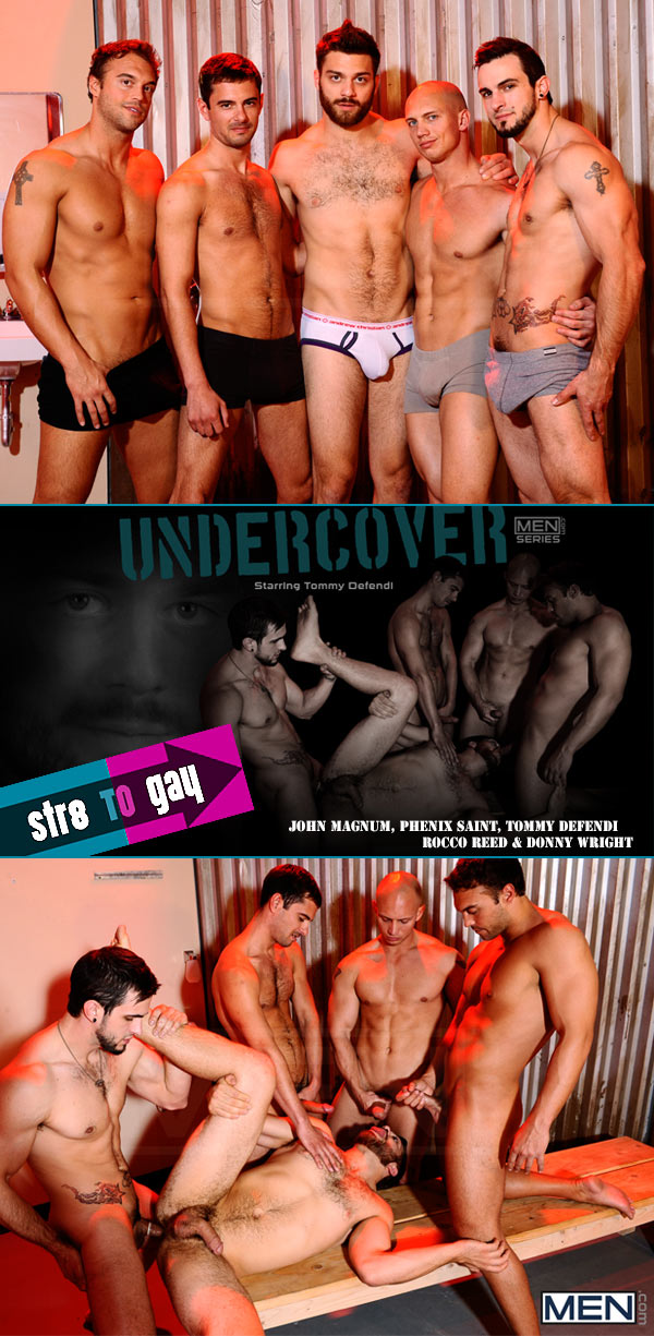 Undercover (John Magnum, Phenix Saint, Tommy Defendi, Rocco Reed & Donny Wright) (Part 3) at Str8ToGay.com