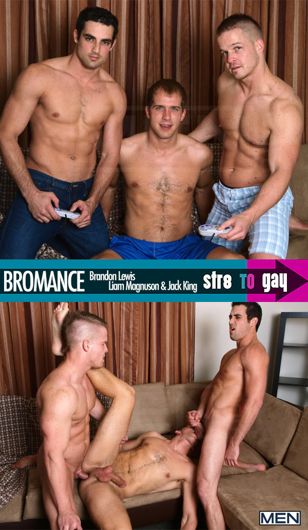Bromance (Brandon Lewis, Liam Magnuson & Jack King) at Str8ToGay.com