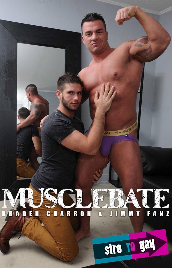 Musclebate (Braden Charron & Jimmy Fanz) at Str8ToGay.com