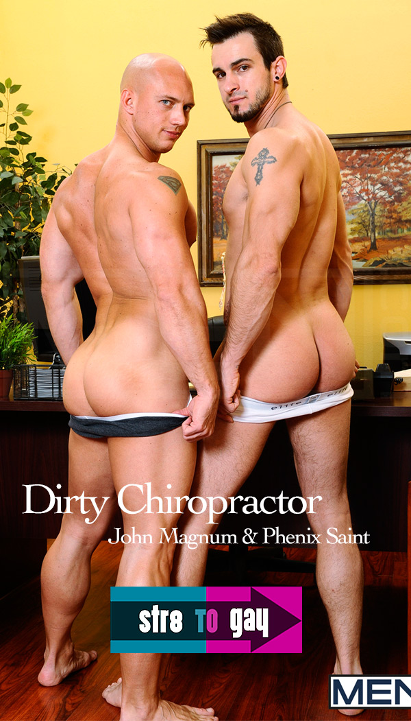 Dirty Chiropractor (John Magnum & Phenix Saint) at Str8ToGay.com