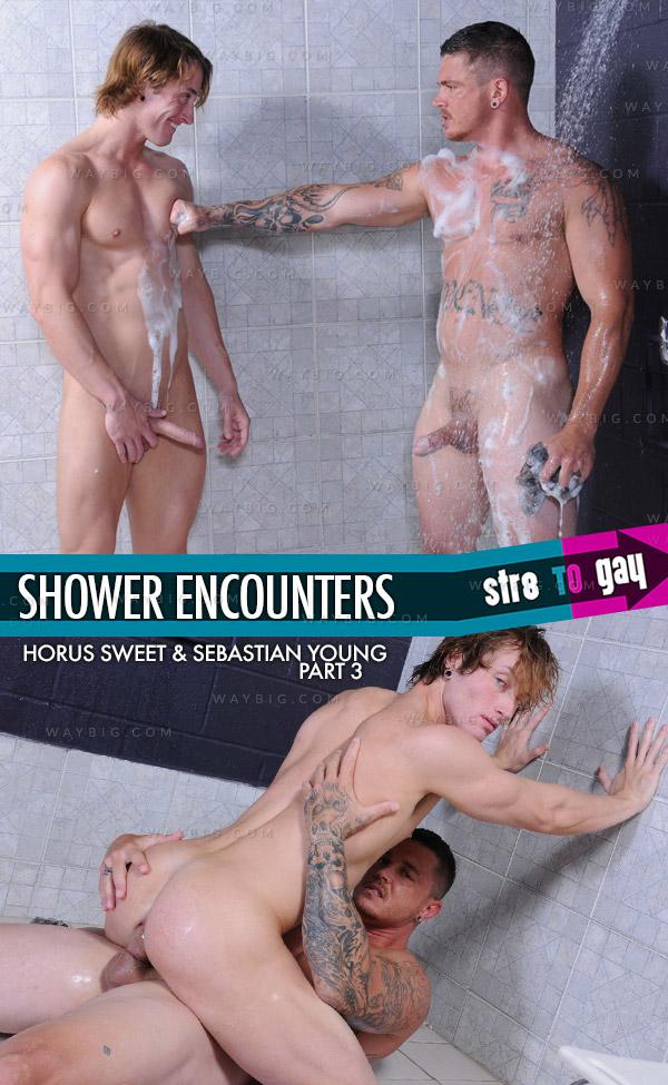 Shower Encounters (Horus Sweet & Sebastian Young) (Part 3) at Str8ToGay.com