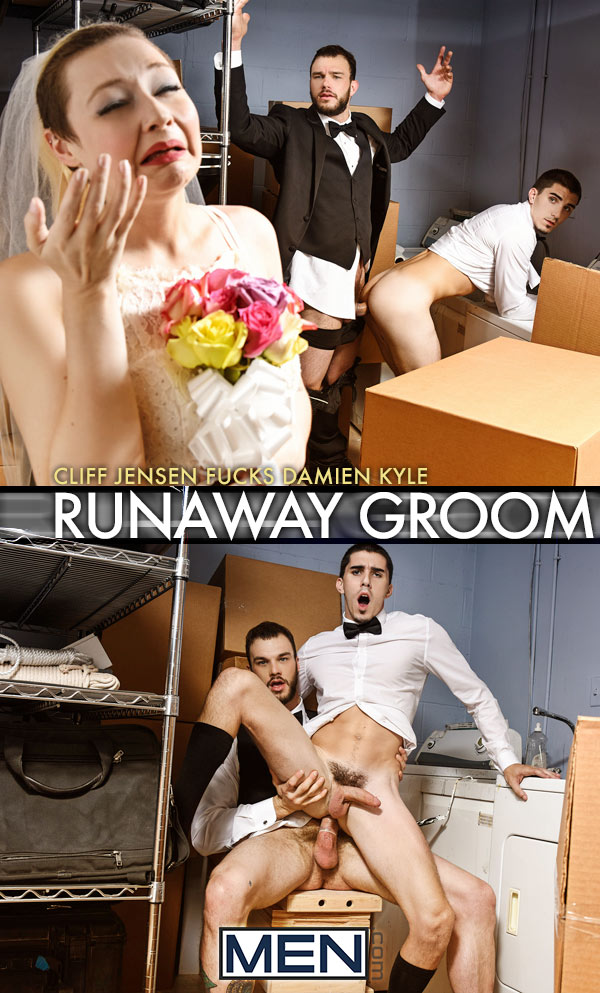 Runaway Groom (Cliff Jensen Fucks Damien Kyle) at Str8 To Gay