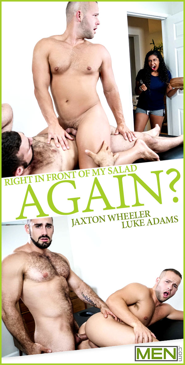 Right In Front Of My Salad Again? (Jaxton Wheeler Fucks Luke Adams) at Str8 To Gay