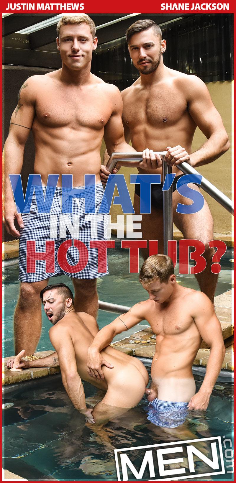 What's in the Hot Tub? (Justin Matthews Fucks Shane Jackson) at Str8 To Gay