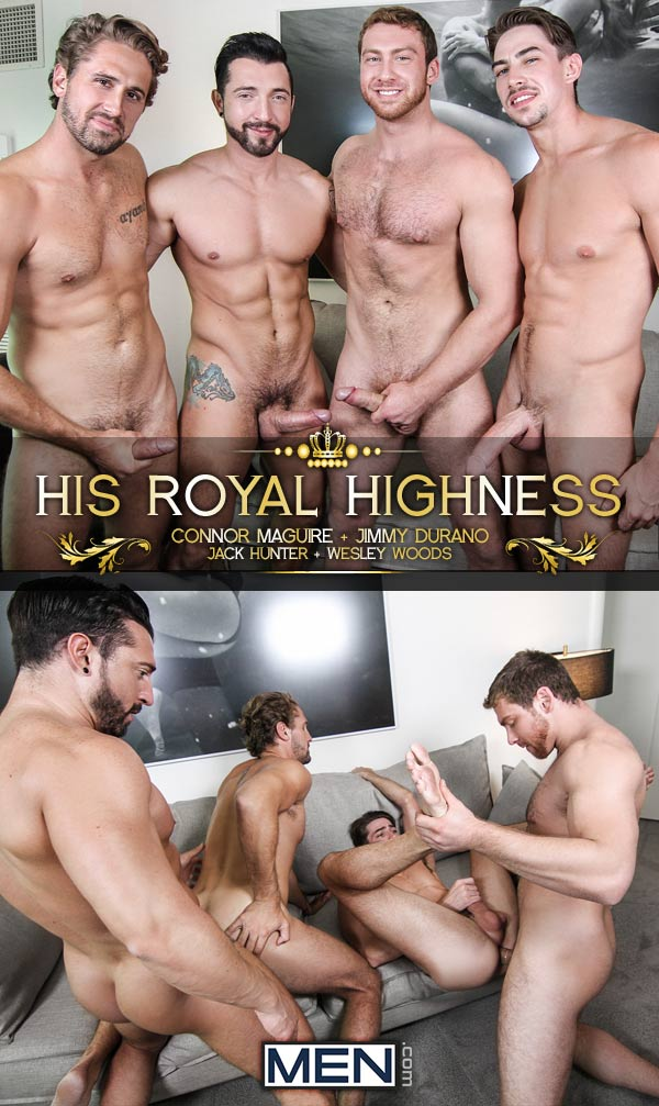His Royal Highness (Connor Maguire, Jimmy Durano, Jack Hunter & Wesley Woods) (Part 3) at Str8 To Gay