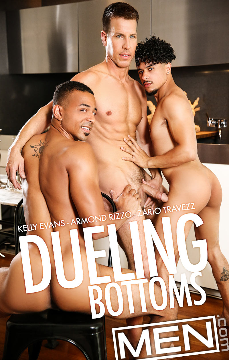 Dueling Bottoms (Kelly Evans, Armond Rizzo and Zario Travezz) at Str8 To Gay
