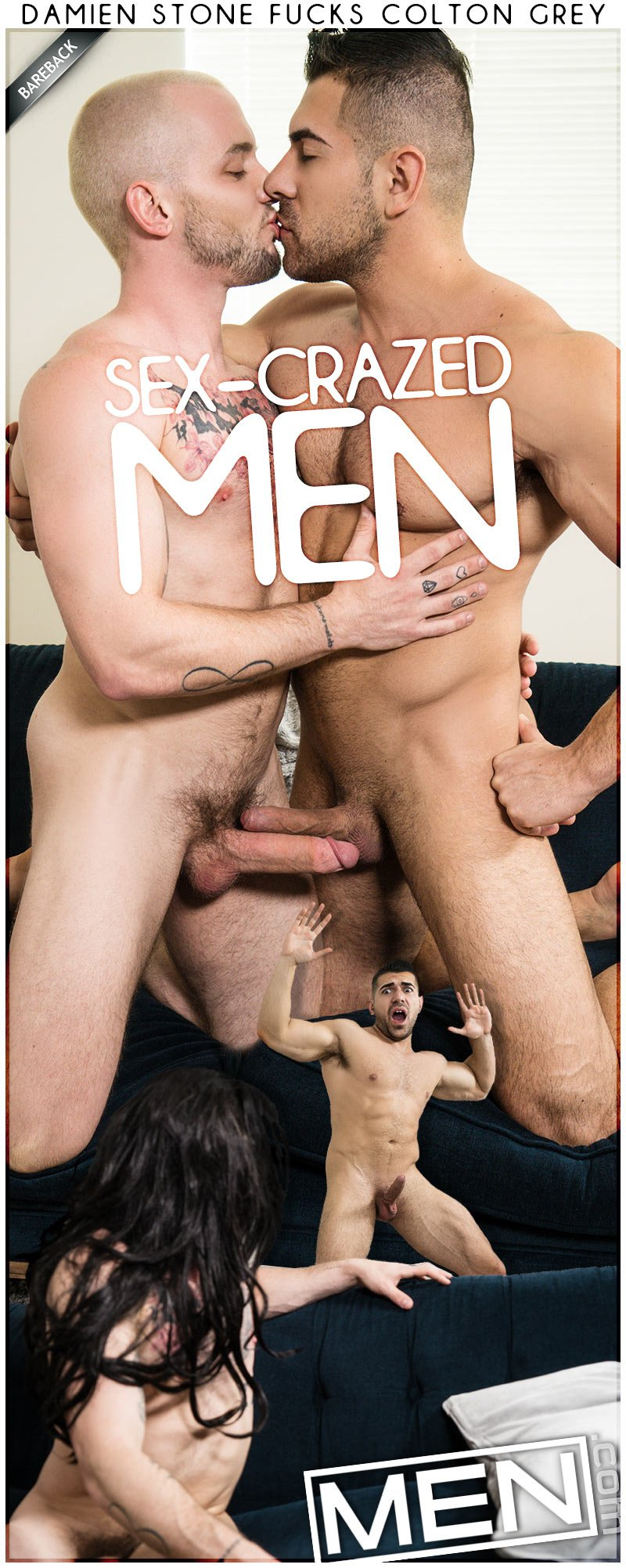 Sex-Crazed Men, Part One (Damien Stone Fucks Colton Grey) at Str8 To Gay