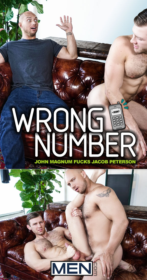 Wrong Number (John Magnum Fucks Jacob Peterson) at Str8 To Gay