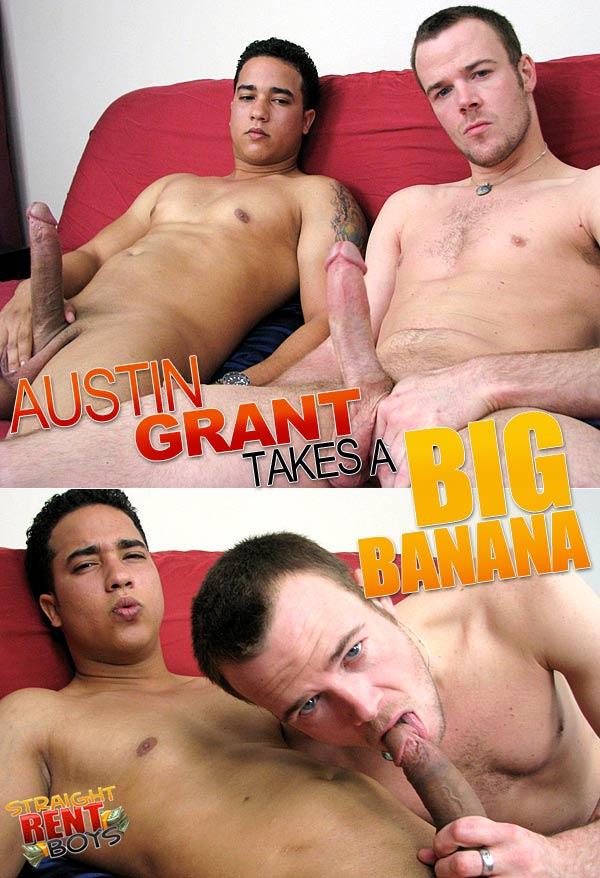 Austin Grant & Benjamin (Austin Takes A Big Banana) at StraightRentBoys