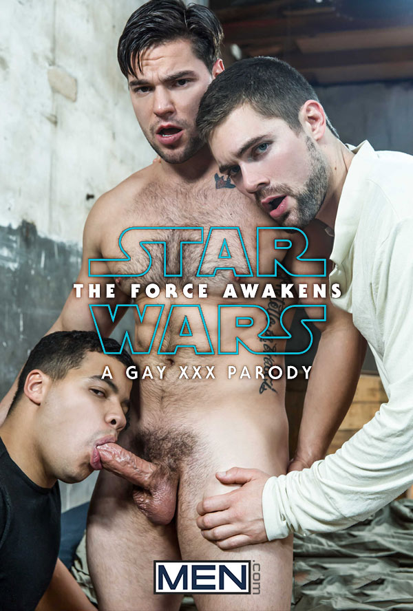 Star Wars: The Force Awakens (A Gay XXX Parody) (Aspen, Griffin Barrows and Kaden Alexander) (Scene 4) at Men.com