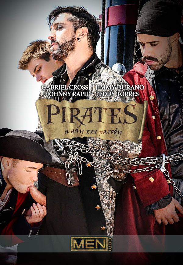 Pirates: A Gay XXX Parody (Johnny Rapid, Jimmy Durano, Gabriel Cross and Teddy Torres) (Part 3) at Men.com