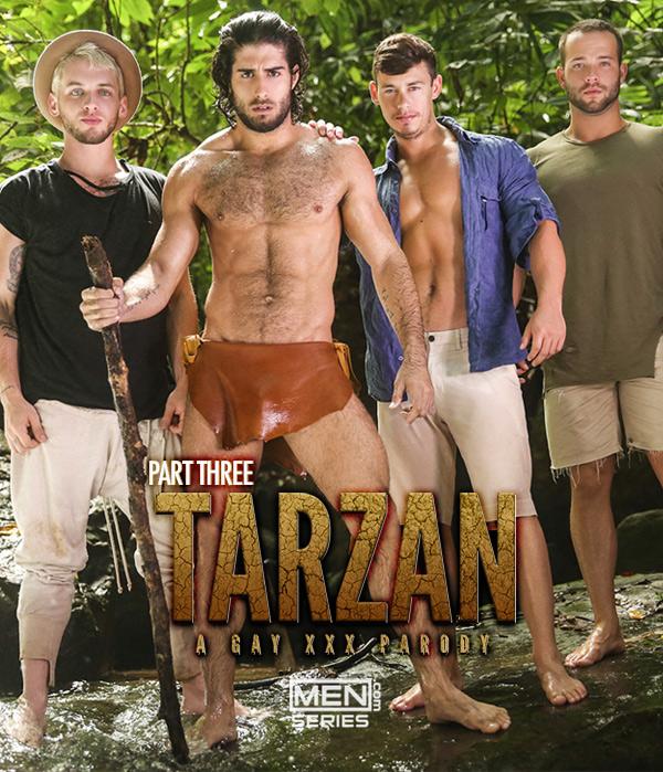 Tarzan: A Gay XXX Parody (Diego Sans,Tobias, Luke Adams and Colton Grey) (Part 3) at Men.com at Men.com