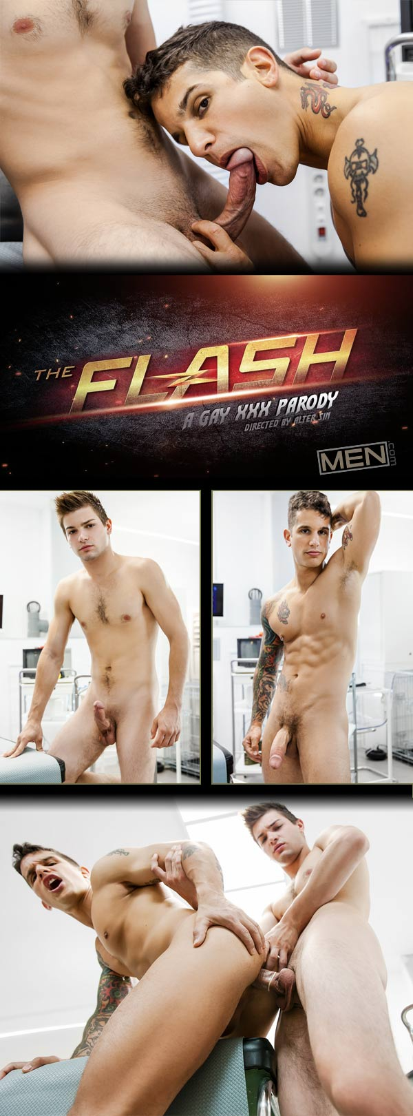 The Flash: A Gay XXX Parody (Johnny Rapid Fucks Pierre Fitch) (Part 2) at Men.com