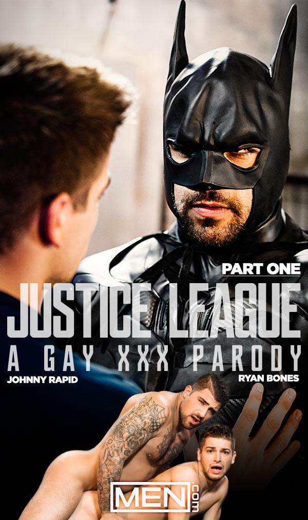Justice League: A Gay XXX Parody (Ryan Bones (Batman) Fucks Johnny Rapid (The Flash)) (Part 1) at Men.com