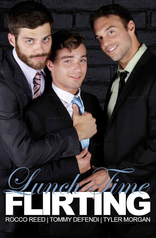 Lunch Time Flirting (Rocco Reed, Tommy Defendi & Tyler Morgan) at The Gay Office