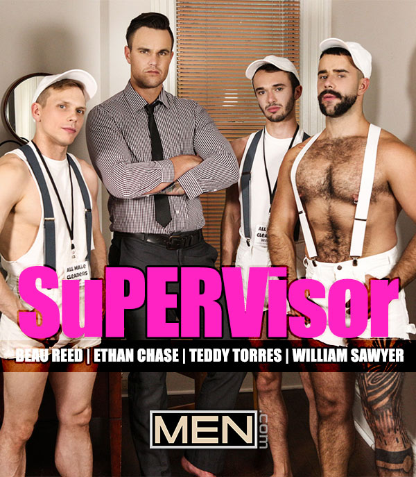 SuPERVisor (Beau Reed, Ethan Chase, Teddy Torres and William Sawyer) (Part 3) at The Gay Office