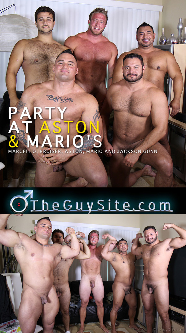 Party At Aston and Mario's (Marcello, Bruiser, Aston, Mario and Jackson Gunn) at The Guy Site