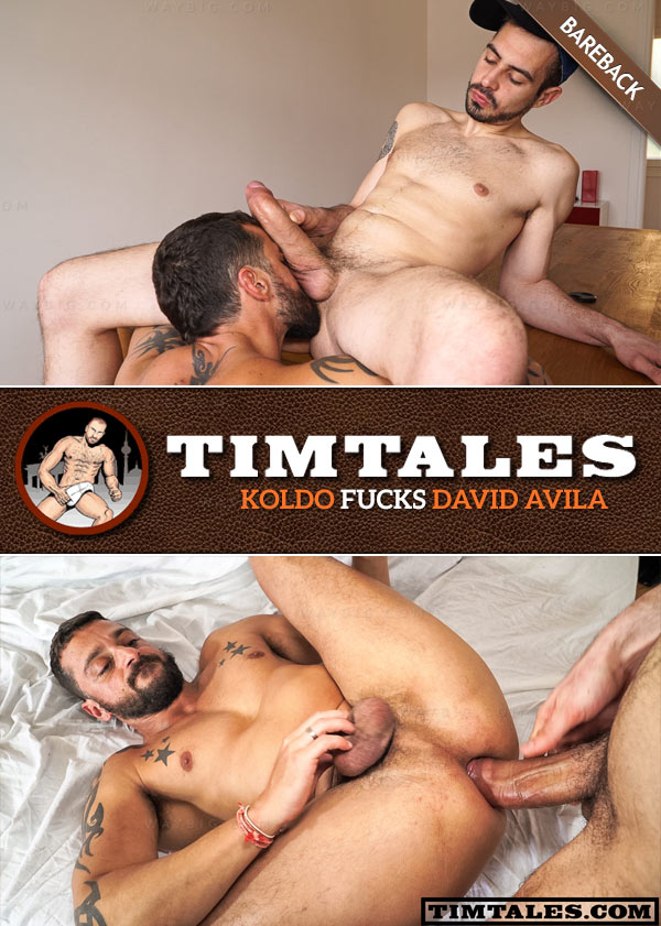 Koldo Fucks David Avila (Bareback) at TimTales