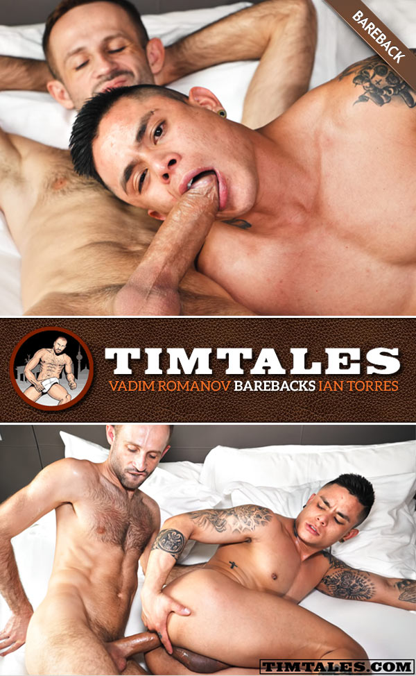 Vadim Romanov barebacks Ian Torres at TimTales