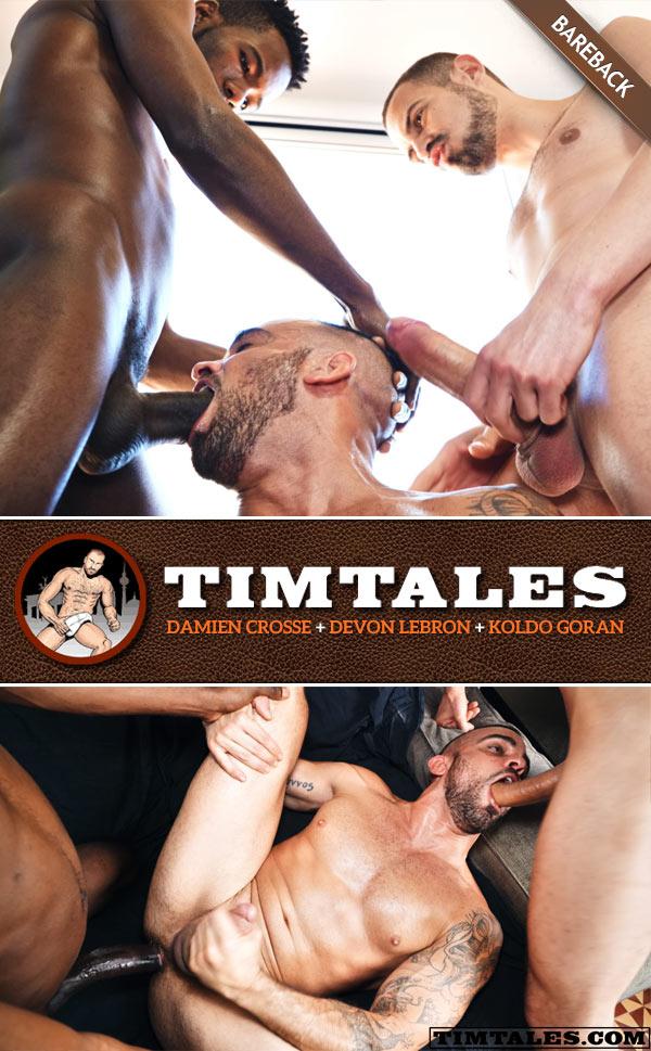 Damien Crosse's Threesome with Devon Lebron & Koldo Goran at TimTales
