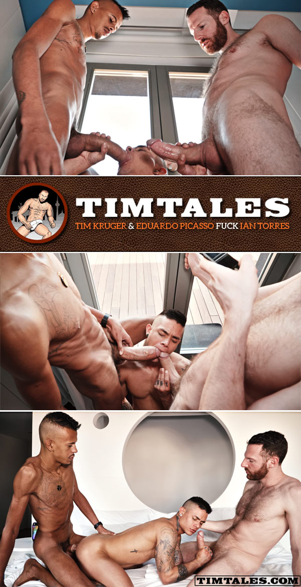 Tim Kruger & Eduardo Picasso Fuck Ian Torres at TimTales