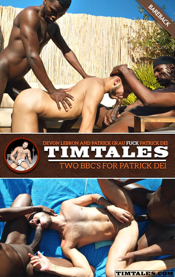 2 Big Black Cocks for Patrick (Devon Lebron and Patrick Grau Bareback Patrick Dei) at TimTales