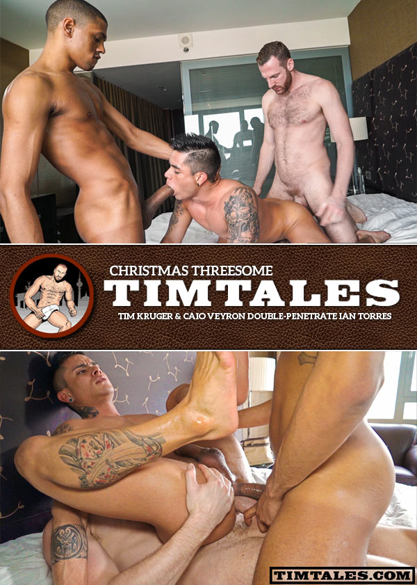 TimTales Christmas Threesome (Tim Kruger, Caio Veyron and Ian Torres)