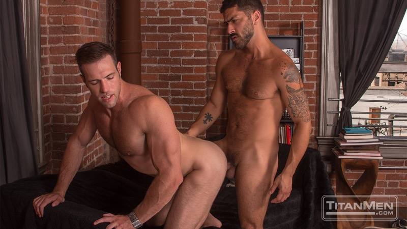 2 Men Kiss (Adam Ramzi & Alex Mecum Flip-Fuck) (Scene 2) at TitanMen
