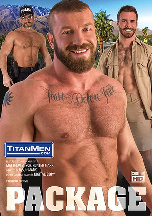 Package (Officer Dirk Caber Leads a 3-way with Hunter Marx and Daddy Max Sargent) (Scene 3) at TitanMen