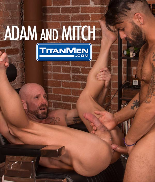 Adam Ramzi Fucks Mitch Vaughn (In The Barber's Chair) at TitanMen