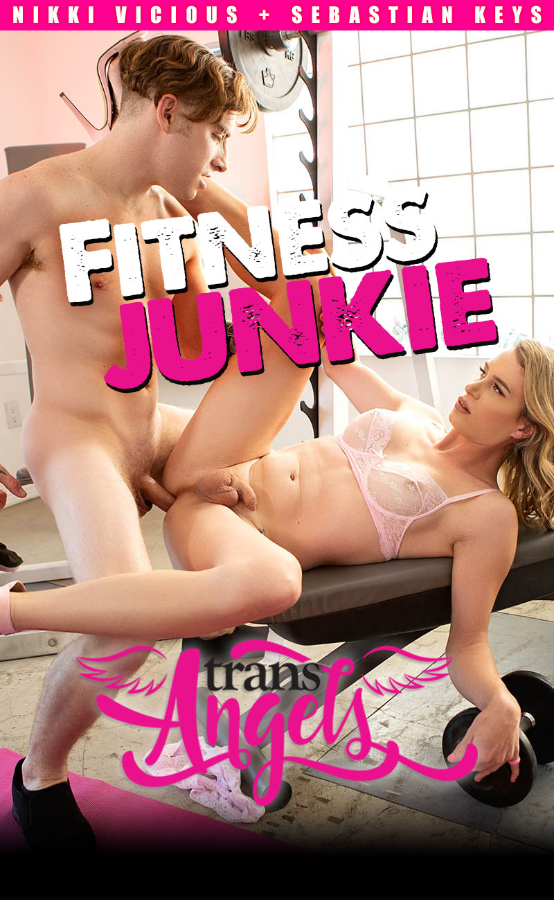 Fitness Junkie (Sebastian Keys Fucks Nikki Vicious) (Bareback) at Trans Angels