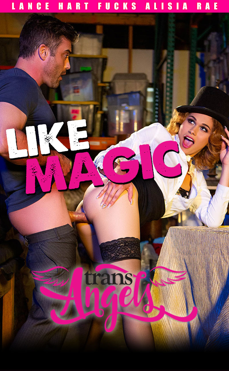 Like Magic (Lance Hart Fucks Alisia Rae) (Bareback) at Trans Angels