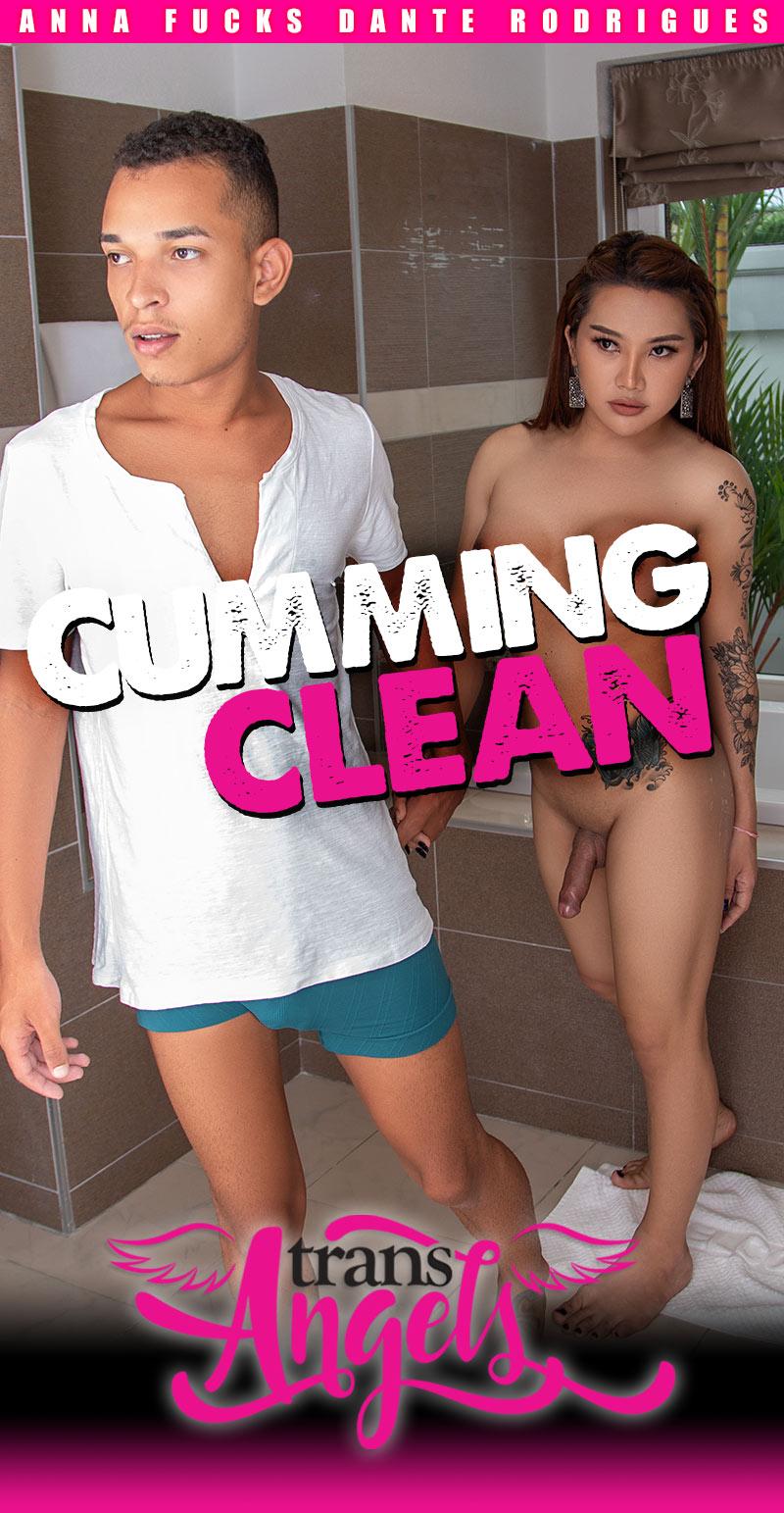 Cumming Clean (Anna Fucks Dante Rodrigues) (Bareback) at Trans Angels