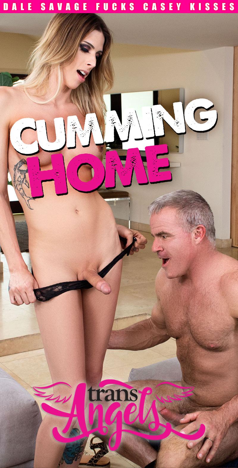 Cumming Home (Dale Savage Fucks Casey Kisses) (Bareback) at Trans Angels