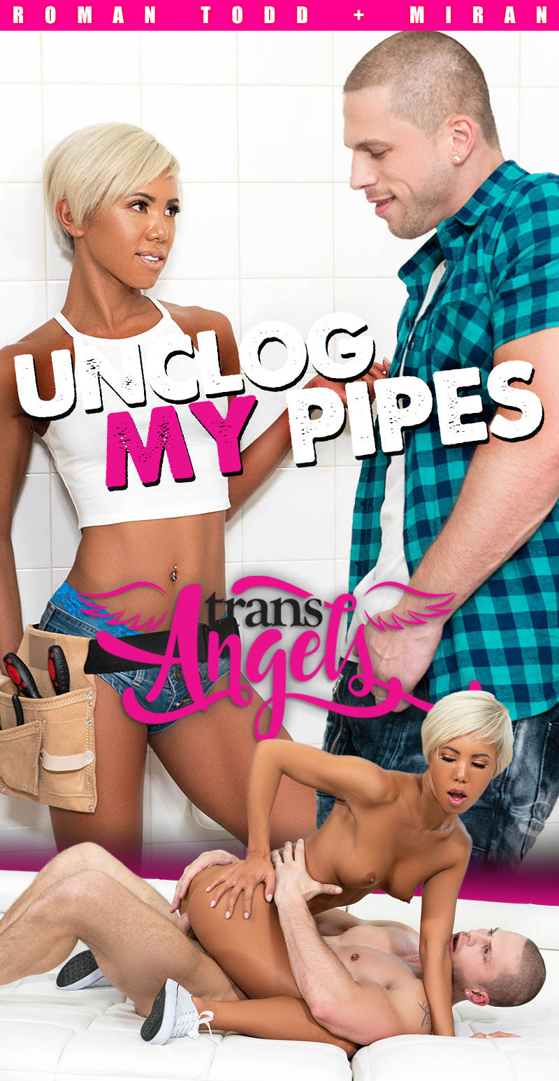 Unclog My Pipes (Roman Todd Fucks Miran) (Bareback) at Trans Angels