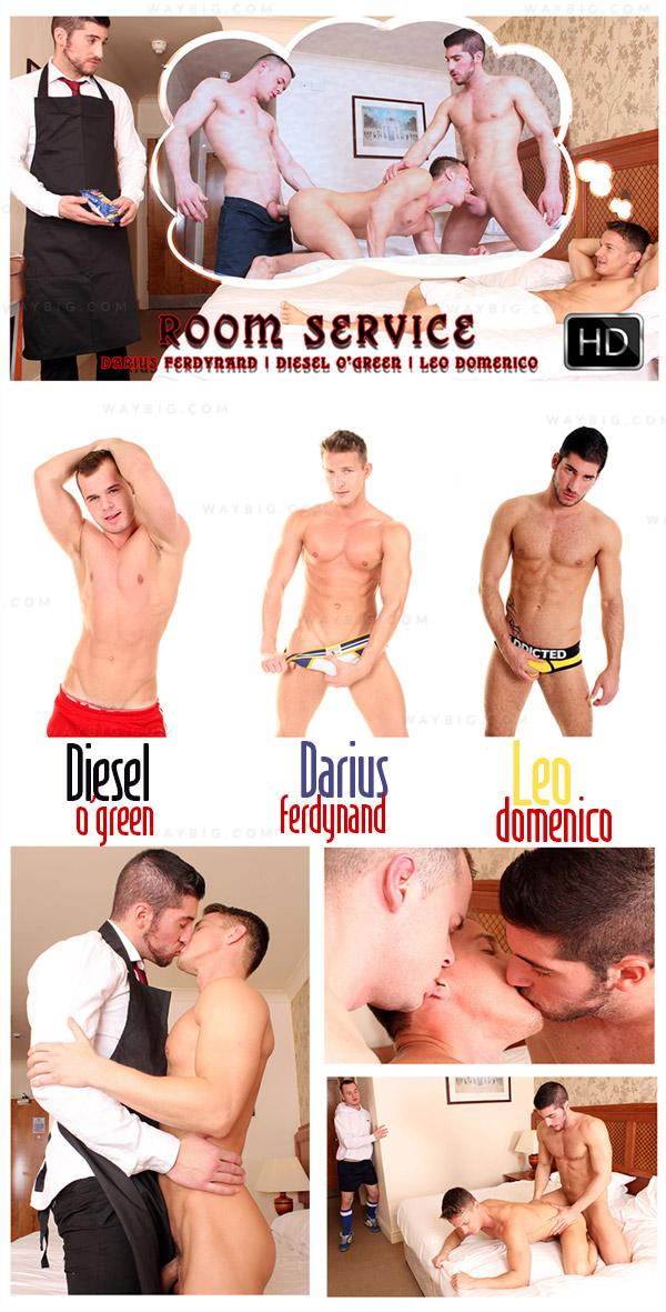 Jock Inn: Room Service (Darius Ferdynand, Diesel O'Green & Leo Domenico) at U.K. Hot Jocks
