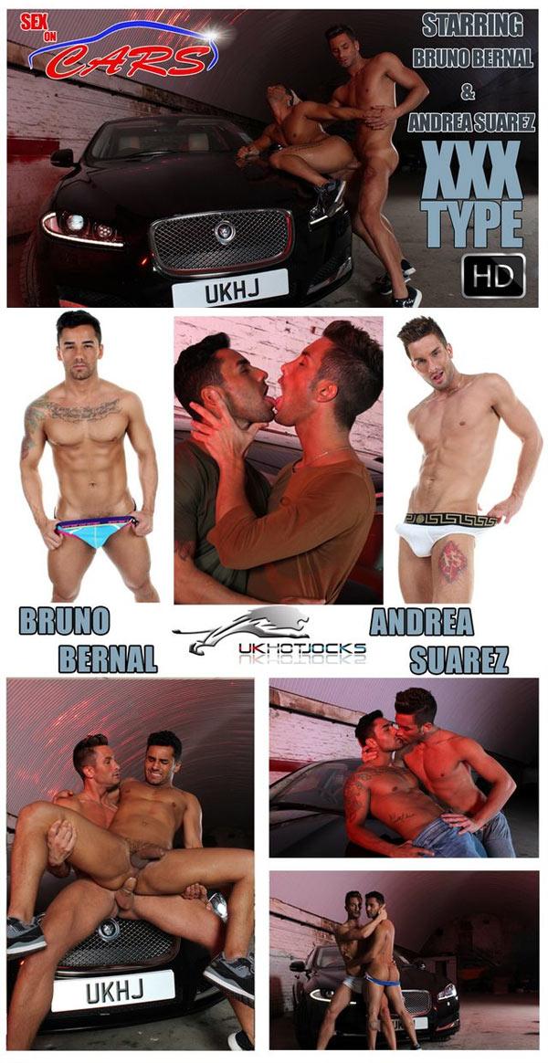 Sex on Cars: XXX Type (Andrea Suarez and Bruno Bernal) at U.K. Hot Jocks