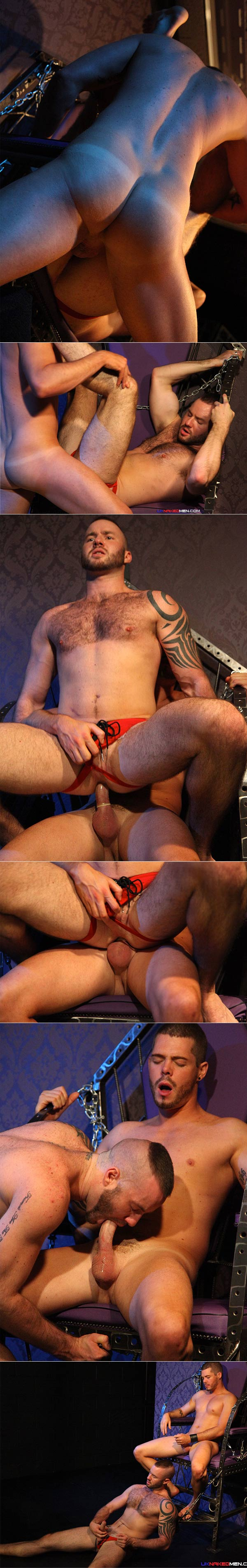 Riding The Pole (Justin King & Dominic North) at UKNakedMen