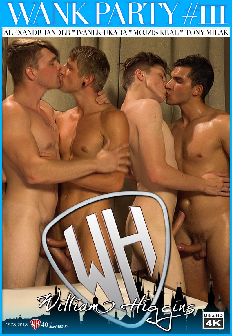 Wank Party #111, Part 2 (Alexandr Jander, Ivanek Ukara, Mojzis Kral and Tony Milak) at WilliamHiggins.com