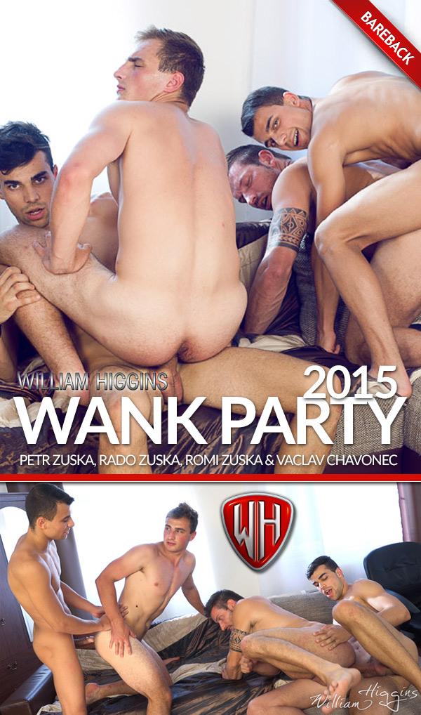 Wank Party 2015 (Petr Zuska, Rado Zuska, Romi Zuska & Vaclav Chavonec) (Part 2) (Bareback) at WilliamHiggins.com